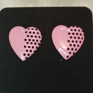 Jewelry - Vintage 1980s Heart Earrings
